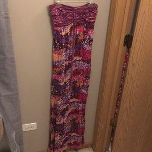 Pink and peach pattern maxi size S (4-6)